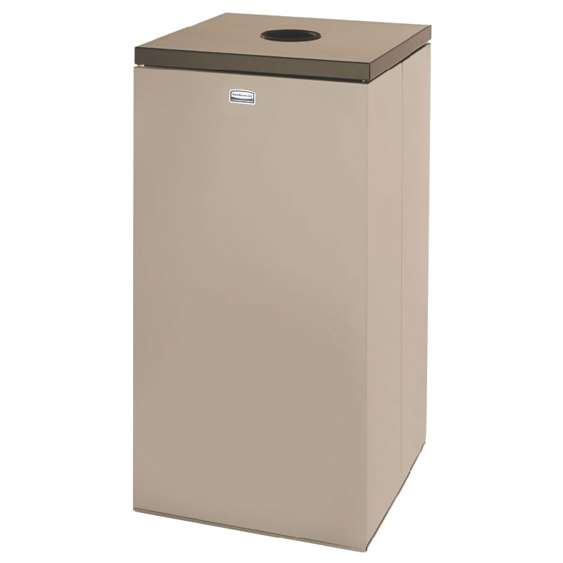 Rubbermaid FGNC30W2L 28.5-gal Cans Recycle Bin - Indoor, Decorative