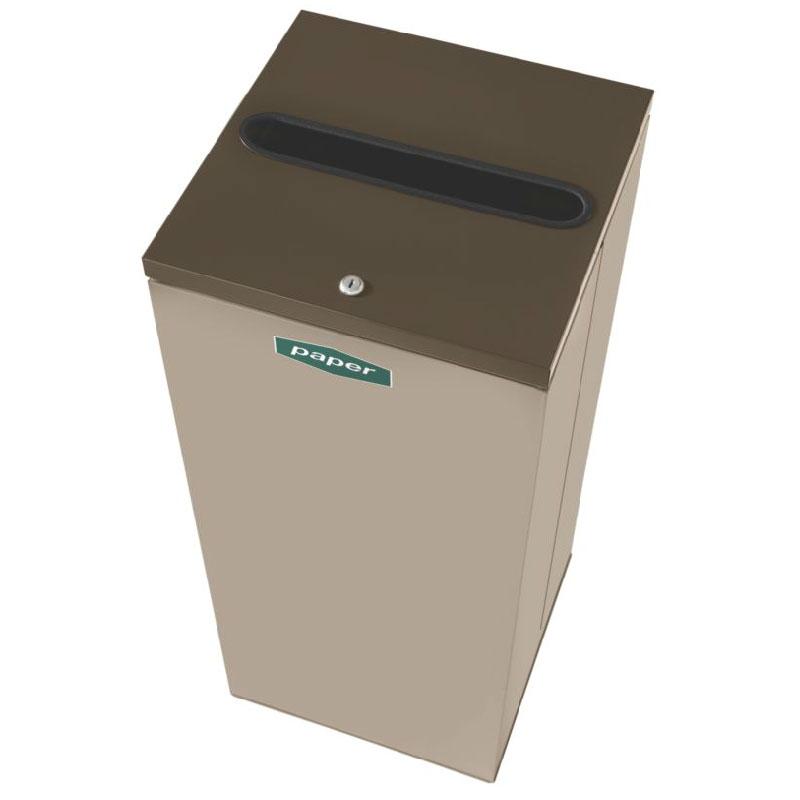 Rubbermaid FGNC30P5L 28.5-gal Paper Recycle Bin - Indoor, Decorative