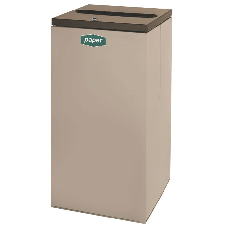 Rubbermaid FGNC30P5L 28.5-gal Paper Recycle Bin - Indoor, Decorative