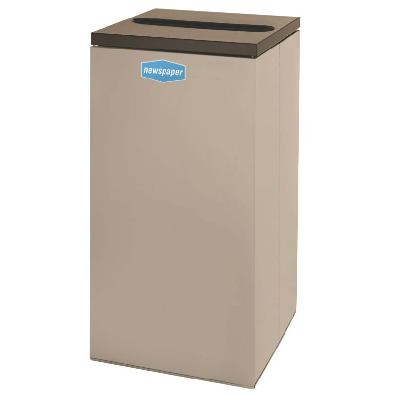 Rubbermaid FGNC30P6 28.5-gal Paper Recycle Bin - Indoor, Decorative