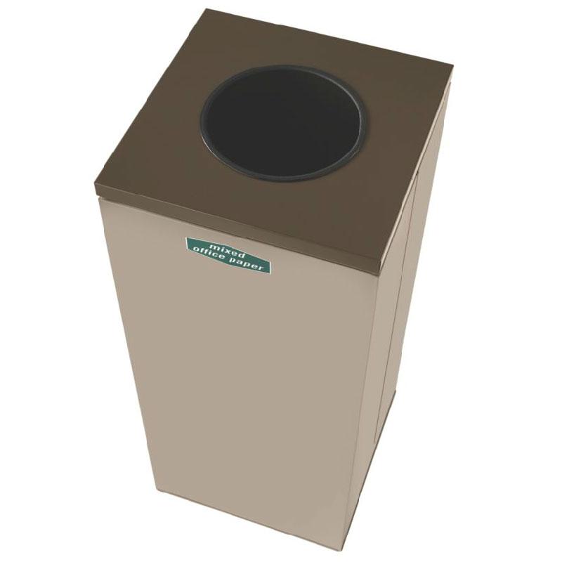 Rubbermaid FGNC30W10 28.5-gal Paper Recycle Bin - Indoor, Decorative