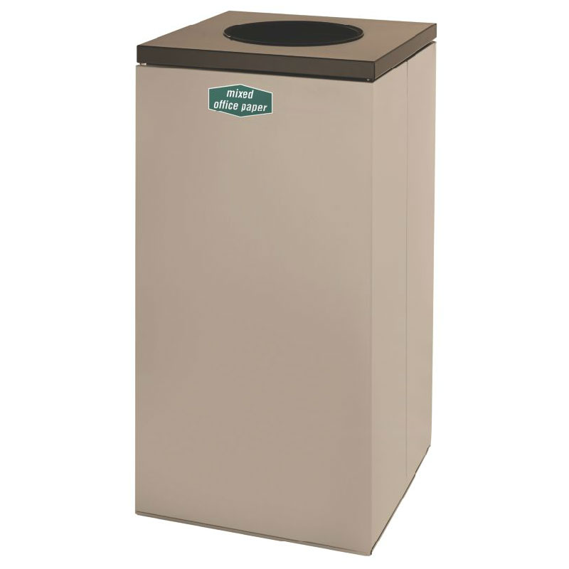 Rubbermaid FGNC30W10 28.5-gal Paper Recycle Bin - Indoor, Decorative