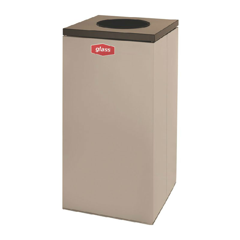 Rubbermaid FGNC30W1L 28.5-gal Glass Recycle Bin - Indoor, Decorative