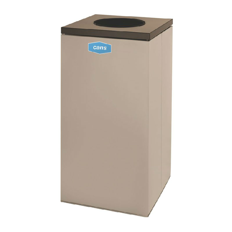 Rubbermaid FGNC30W2 28.5-gal Cans Recycle Bin - Indoor, Decorative