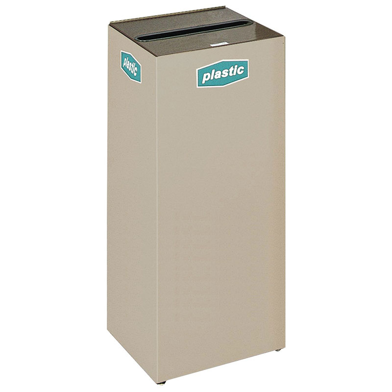 Rubbermaid FGNC36C3 34.5-gal Plastic Recycle Bin - Indoor, Decorative