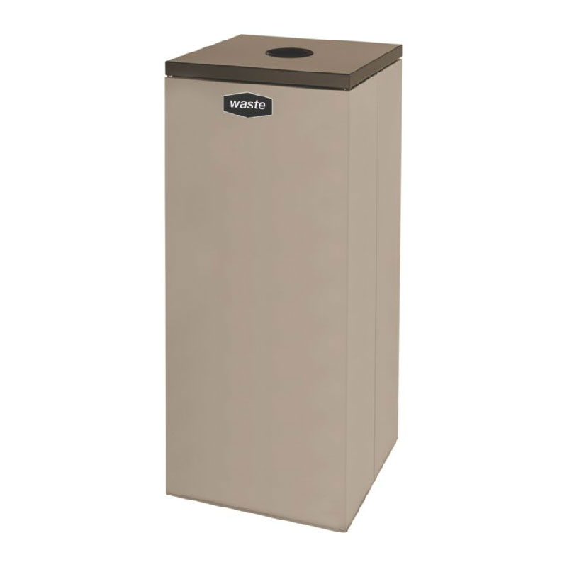 Rubbermaid FGNC36C4L 34.5-gal Multiple Materials Recycle Bin - Indoor, Decorative