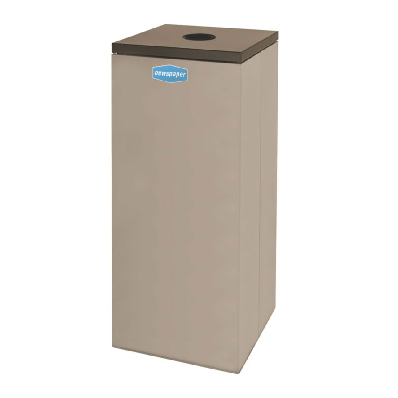 Rubbermaid FGNC36C6 34.5-gal Paper Recycle Bin - Indoor, Decorative