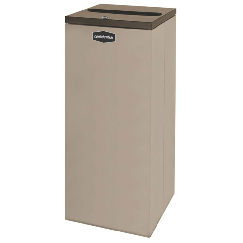 Rubbermaid FGNC36P11 34.5-gal Paper Recycle Bin - Indoor, Decorative