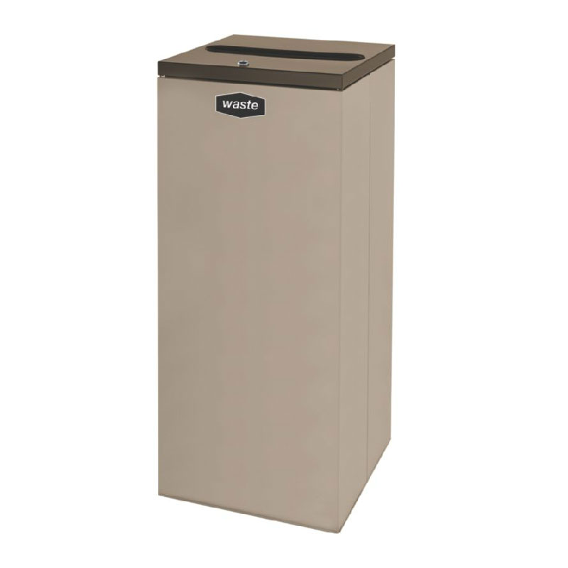 Rubbermaid FGNC36P4L 34.5-gal Paper Recycle Bin - Indoor, Decorative