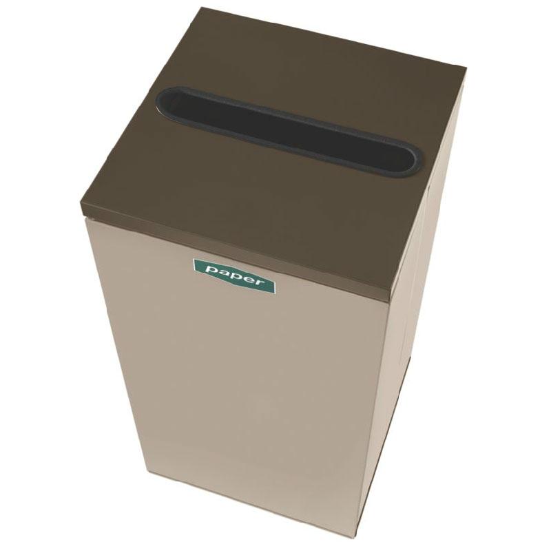 Rubbermaid FGNC36P5 34.5-gal Paper Recycle Bin - Indoor, Decorative