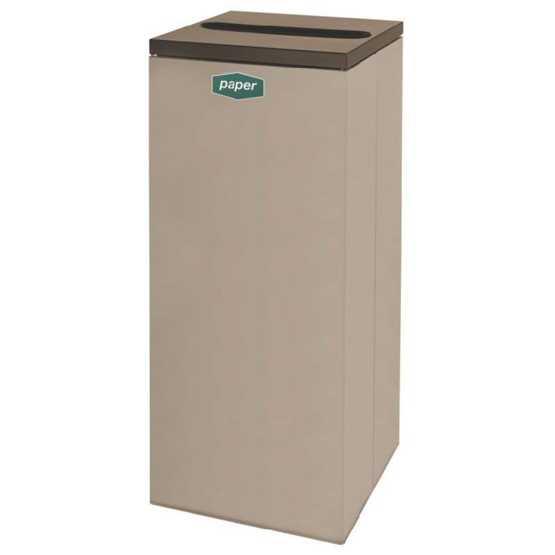 Rubbermaid FGNC36P5 34.5-gal Paper Recycle Bin - Indoor, Decorative