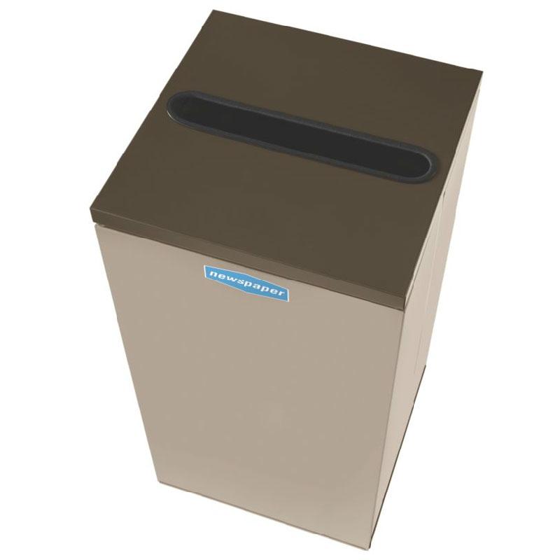 Rubbermaid FGNC36P6 34.5-gal Paper Recycle Bin - Indoor, Decorative