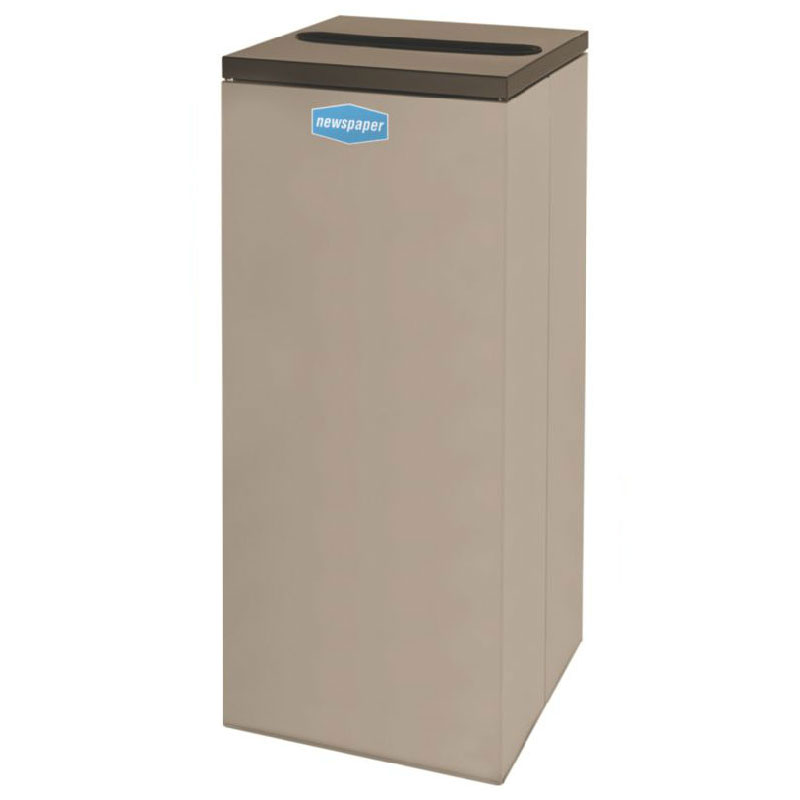 Rubbermaid FGNC36P6 34.5-gal Paper Recycle Bin - Indoor, Decorative