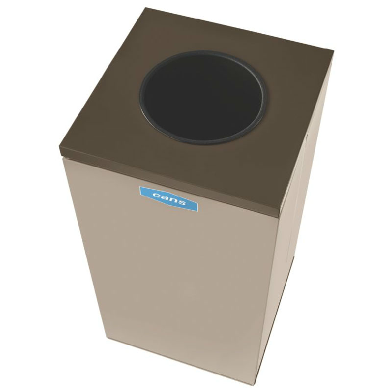 Rubbermaid FGNC36W2 34.5-gal Cans Recycle Bin - Indoor, Decorative