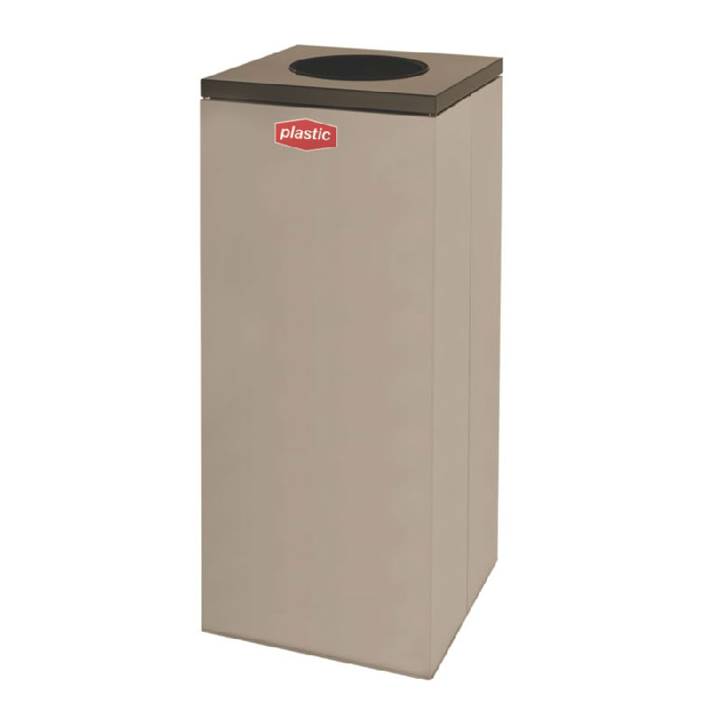 Rubbermaid FGNC36W3 34.5-gal Plastic Recycle Bin - Indoor, Decorative