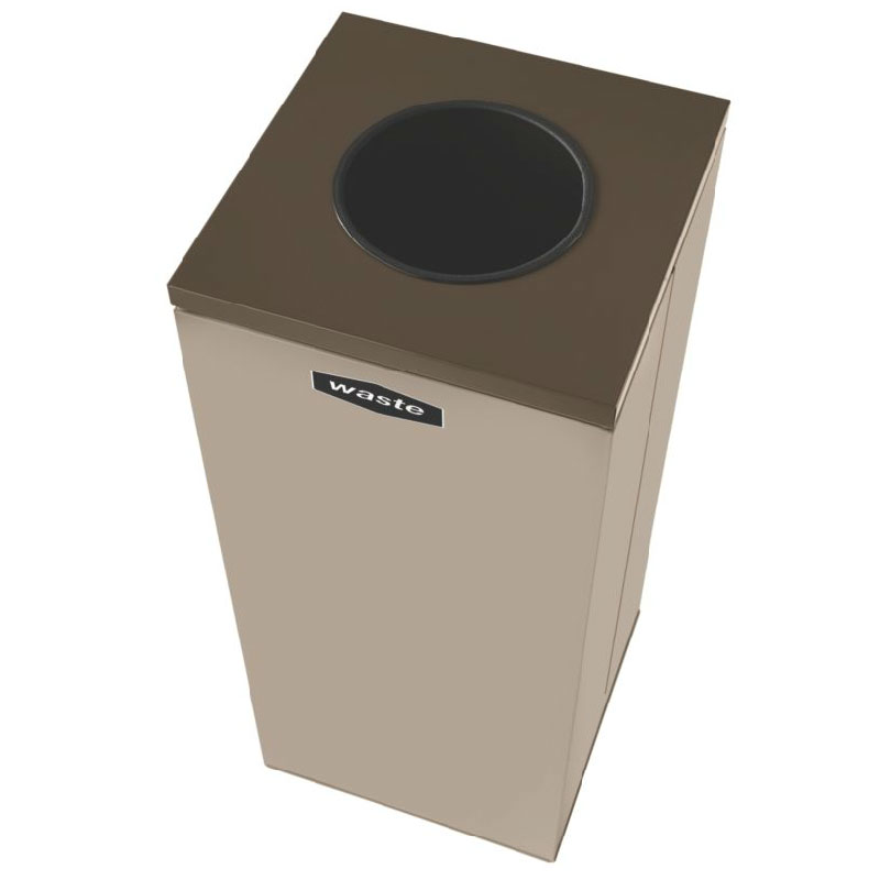 Rubbermaid FGNC36W4 34.5-gal Multiple Materials Recycle Bin - Indoor, Decorative