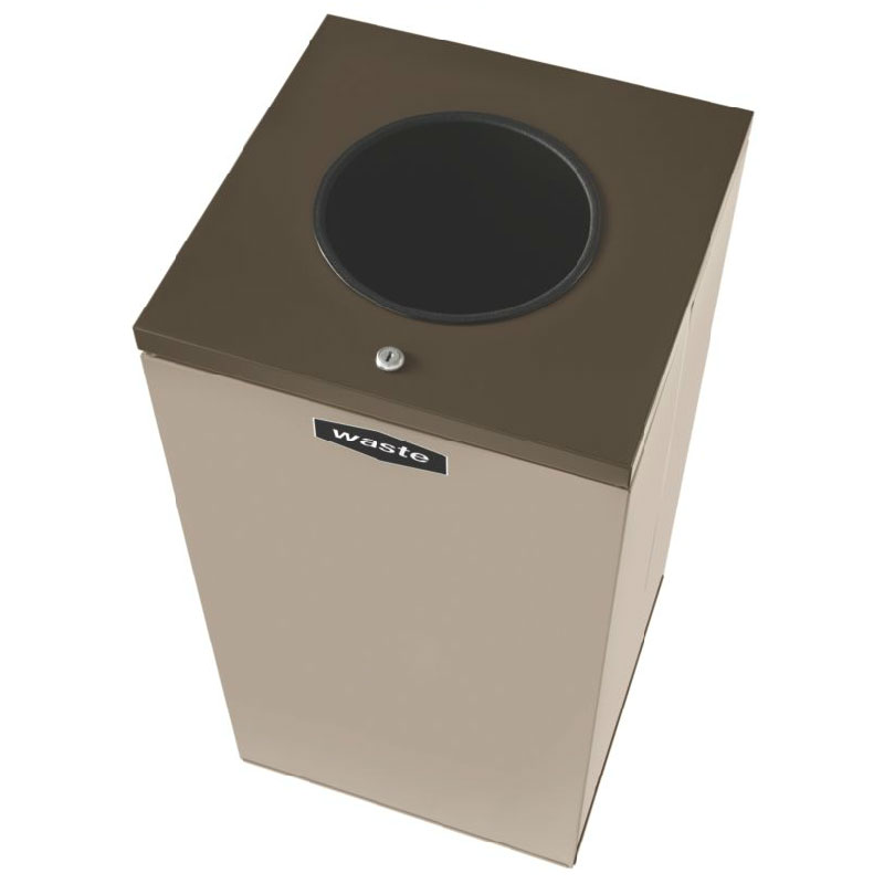 Rubbermaid FGNC36W4L 34.5-gal Multiple Materials Recycle Bin - Indoor, Decorative