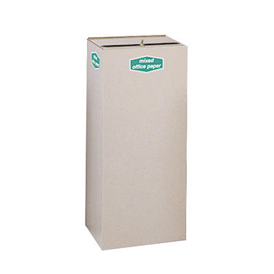 Rubbermaid FGNC36W5L 34.5-gal Paper Recycle Bin - Indoor, Decorative