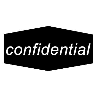 "Rubbermaid FGNCL11 Confidential"" Recycling Decal - Black/White"