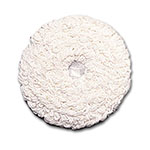 "Rubbermaid FGP11700WH00 17"" Round Bonnet Floor Machine Pad for 175 RPM, White"
