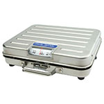 Rubbermaid FGP250SS Pelouze Receiving Scale - Dial Type, Low Profile, 250-lb x 1-lb, Stainless