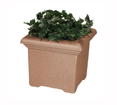 "Rubbermaid FGFGPT3627BK Tuscany Planter - Square, 36x36x27"" Fiberglass, Black"
