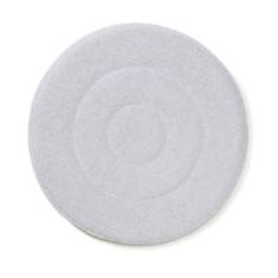 "Rubbermaid FGQ26100WH00 21"" Carpet Bonnet Floor Machine Pad for 175 RMP, White"
