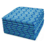 "Rubbermaid FGQ62000BL00 16"" Square Hygen General Purpose Cloth - Microfiber, Blue"