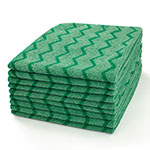 "Rubbermaid FGQ62000GR00 16"" Square Hygen General Purpose Cloth - Microfiber, Green"