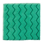 "Rubbermaid FGQ64000GR00 20"" Square Hygen General Purpose Cloth - Microfiber, Green"