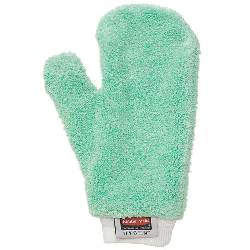 Rubbermaid FGQ65200GR00 Hygen Dusting Mitt - Microfiber, Green