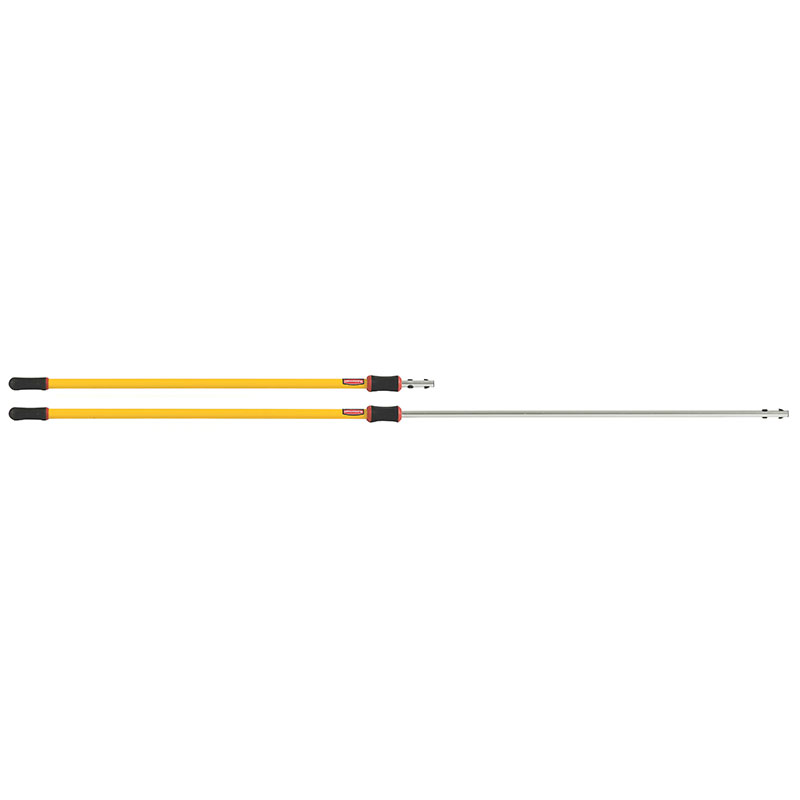 Rubbermaid FGQ77500YL00 Hygen Quick Connect Extension Pole - 6-18 Yellow
