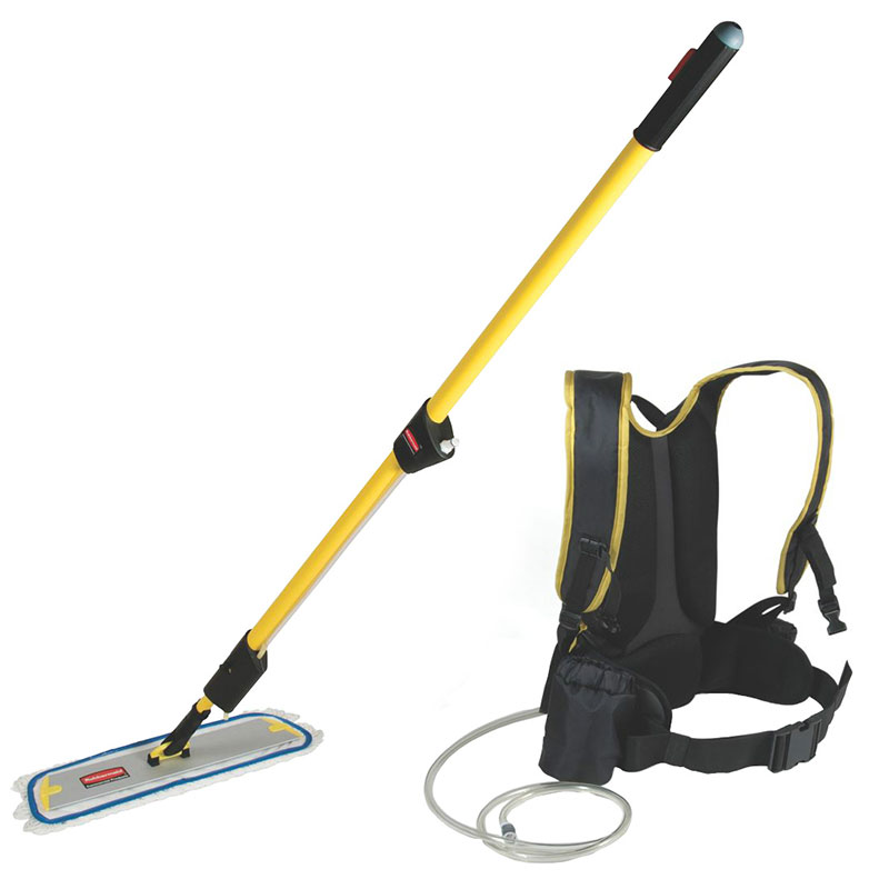 "Rubbermaid FGQ97900YL00 Flow Finishing System - 56"" Flat Mop, 1-1/2-gal Capacity Finishing Kit, Yellow"