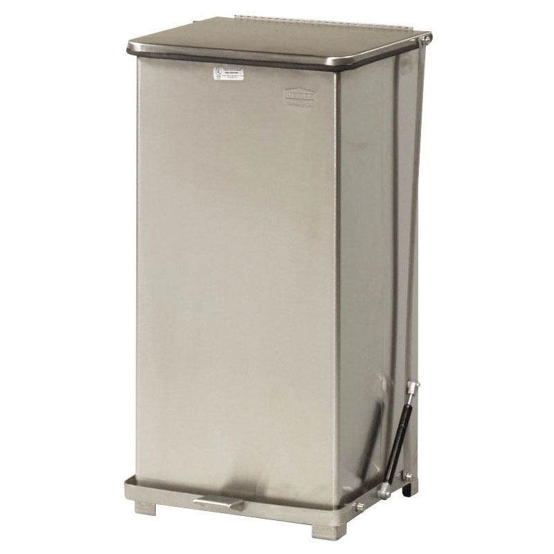 Rubbermaid FGQST24SSRB 24-gal Silent Defender Step Waste Can - Stainless