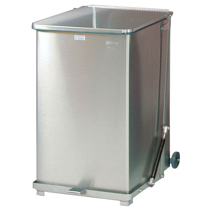 "Rubbermaid FGQST40SSRB 40-gal Square Metal Step Trash Can, 19""L x 19""W x 30""H"