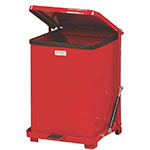 "Rubbermaid FGQST7ERBRD 7-gal Square Metal Step Trash Can, 12""L x 12""W x 17""H, Stainless"