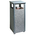 Rubbermaid FGR122000PL 12-gal Outdoor Decorative Trash Can - Metal, Gray