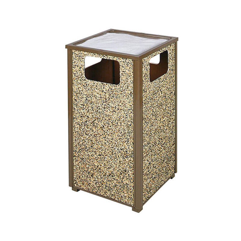 Rubbermaid FGR18SU201PL 24-gal Aspen Ash/Trash Receptacle - Rigid Plastic Liner, Desert Brown/Brown