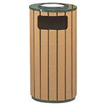 Rubbermaid FGR23SU50PLEGN 12-gal Regent 50 Waste Receptacle - Sand Urn Top, Galvanized Liner, Cedar/Green