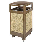 Rubbermaid FGR36HT201PL 29-gal Aspen Waste Receptacle - Hinged Top, Plastic Liner, Desert Brown/Brown