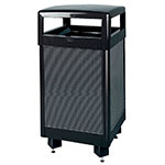Rubbermaid FGR36HT500PL 29-gal Aspen Waste Receptacle - Hinged Top, Plastic Liner, Anthracite/Black