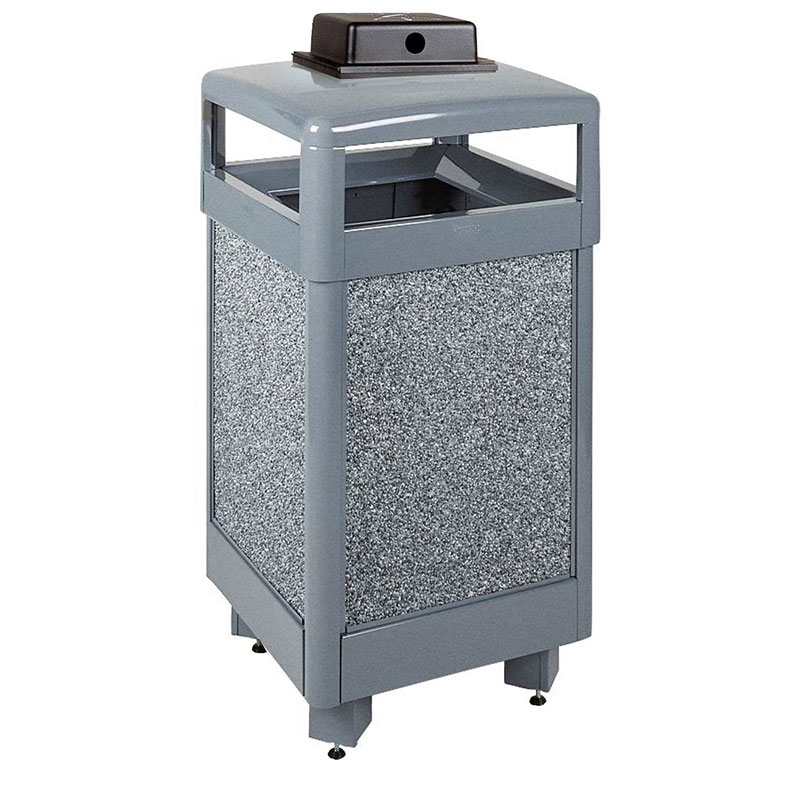 Rubbermaid FGR36HTWU2000PL 29-gal Aspen Waste Receptacle - Hinged Top, Dove Gray/Gray