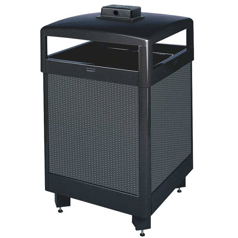 Rubbermaid FGR38HTWUSBKPL Trash Can Top Cigarette Receptacle - Outdoor Rated