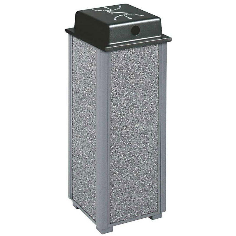 "Rubbermaid FGR40WUSBK 10"" Dimension Square Weather Urn - Satin Black"