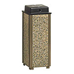 "Rubbermaid FGR40WU201 10"" Square Aspen Urn with Weather Urn - Desert Brown Stone/Brown"