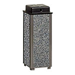 "Rubbermaid FGR40WU6000 10"" Dimension Square Weather Urn - Glacier Gray/Bronze"