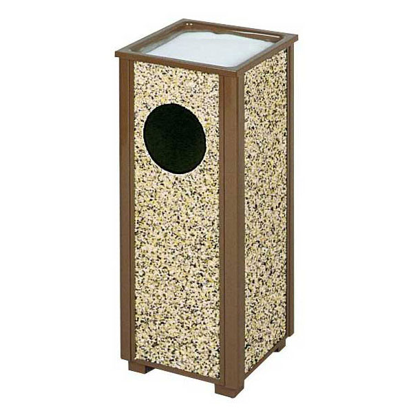 Rubbermaid FGR41201PL 2-1/2-gal Aspen Ash/Trash Receptacle - Desert Brown Stone/Brown