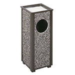 Rubbermaid FGR416000PL 2-1/2-gal Aspen Ash/Trash Receptacle - Glacier Gray Stone/Bronze