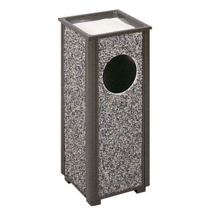 Rubbermaid FGR416000PL Trash Can Top Cigarette Receptacle - Outdoor Rated