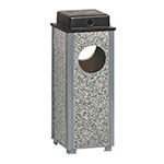 Rubbermaid FGR41WU2000PL 2-1/2-gal Square Aspen Urn with Weather Urn - Dove Gray Stone/Gray
